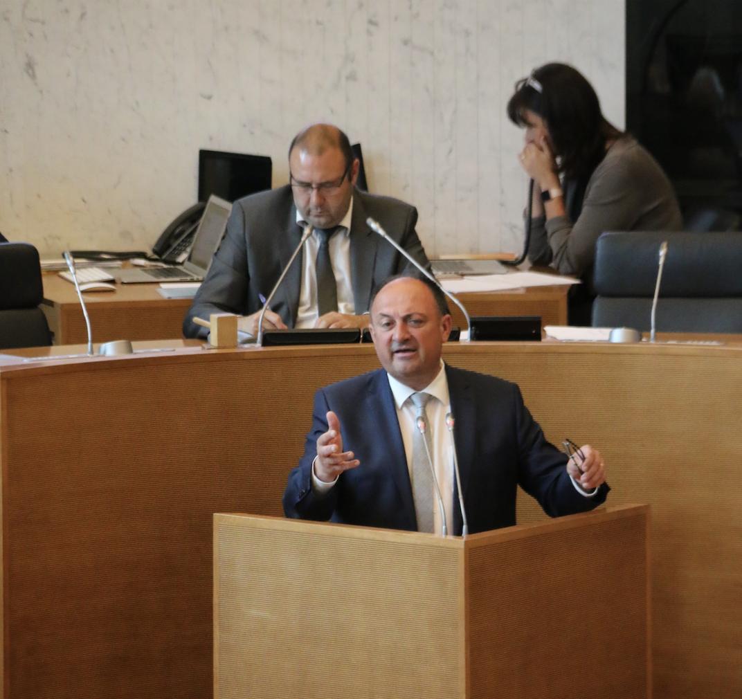 Discours du ministre-président wallon Willy Borsus sur l'état de la Wallonie