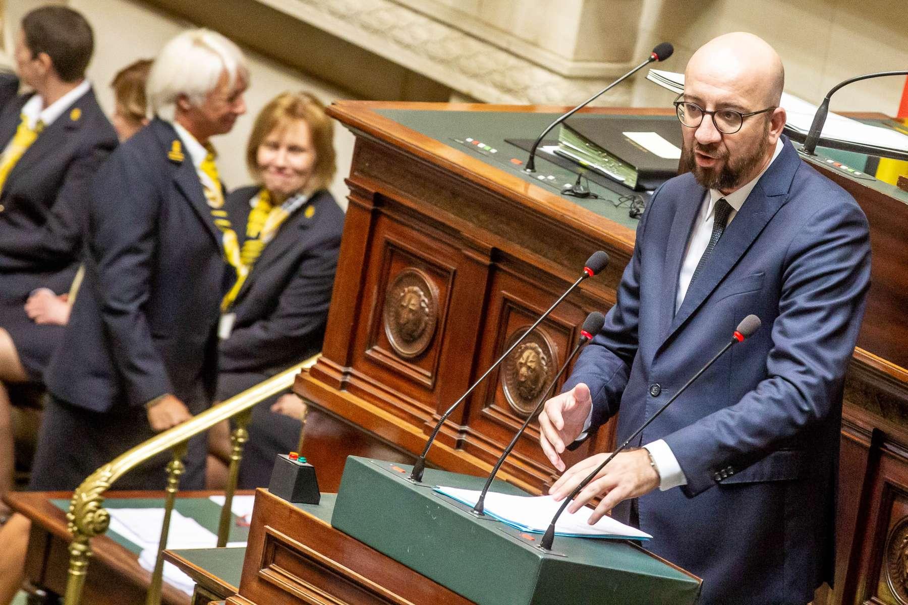 Déclaration de Gouvernement prononcée par le Premier ministre Charles Michel