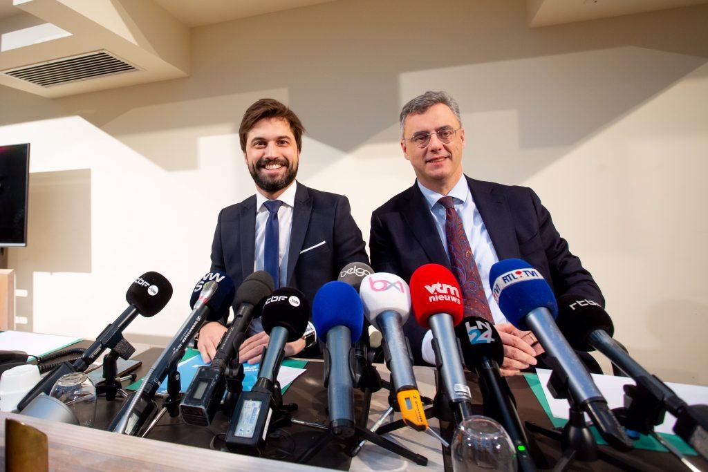 Georges-Louis Bouchez et son homologue du CD&V, Joachim Coens