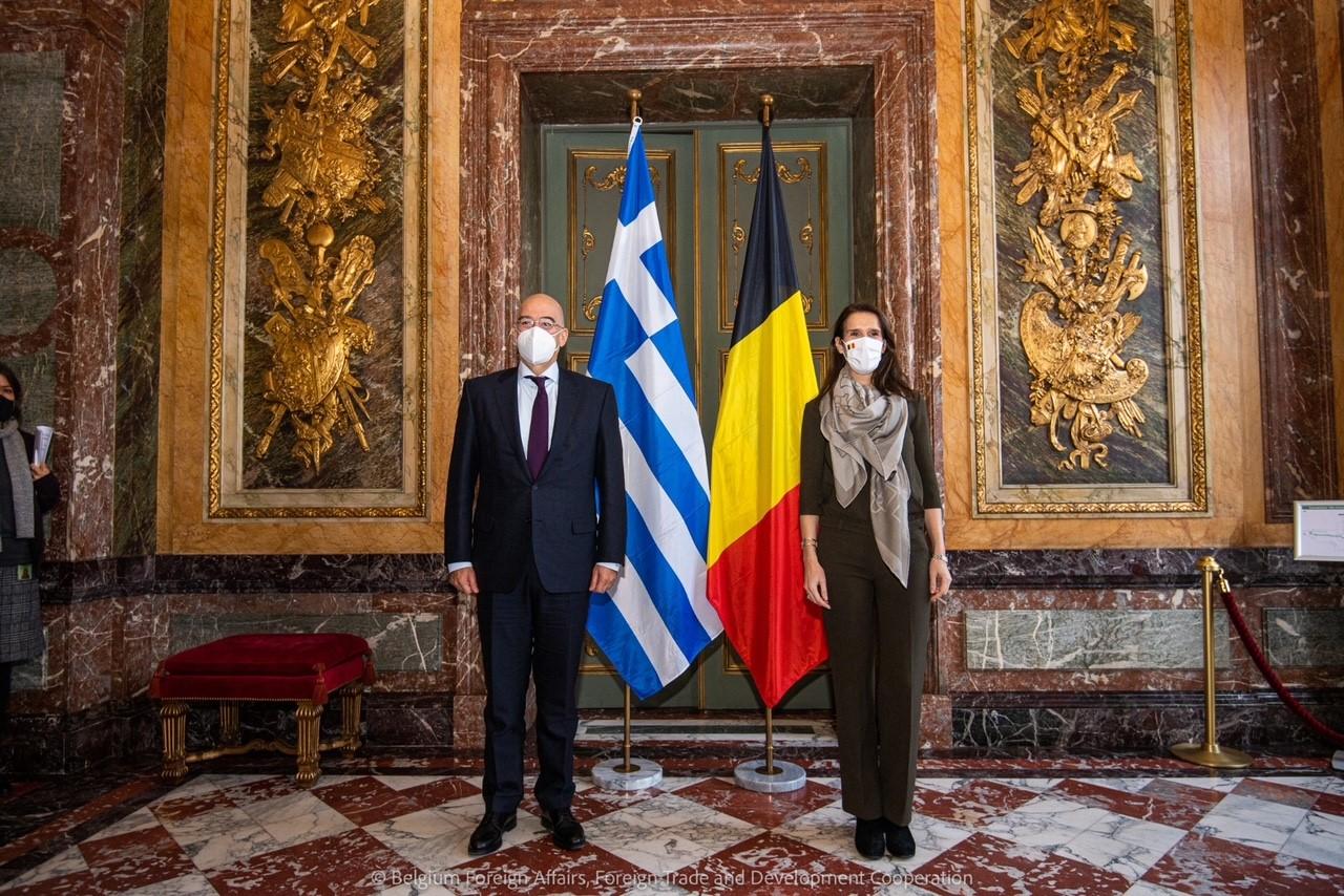 Sophie Wilmès rencontre le Ministre grec S.E. M. Níkos Déndias
