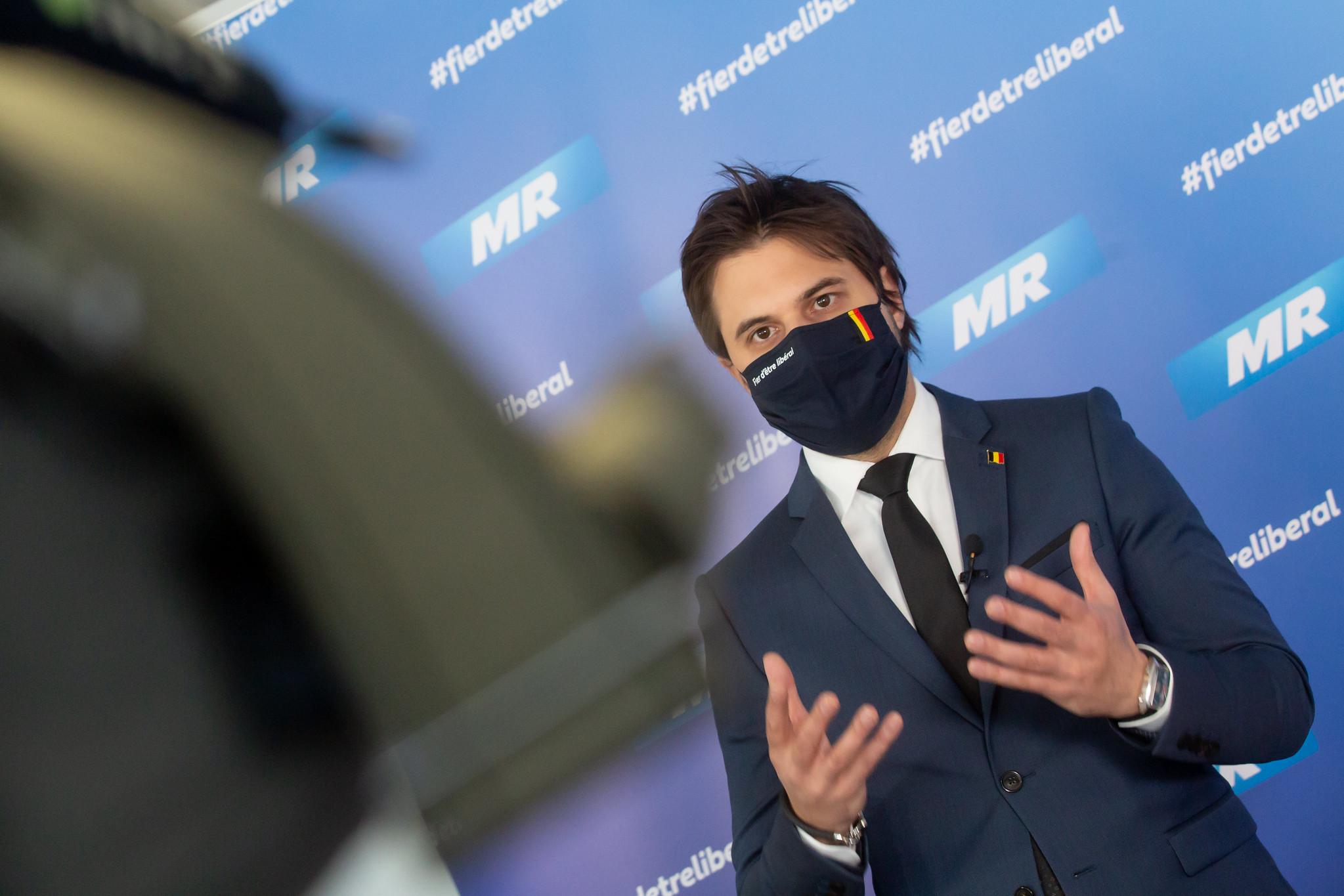 Georges-Louis Bouchez chez Zevende Dag à propos du couvre-feu
