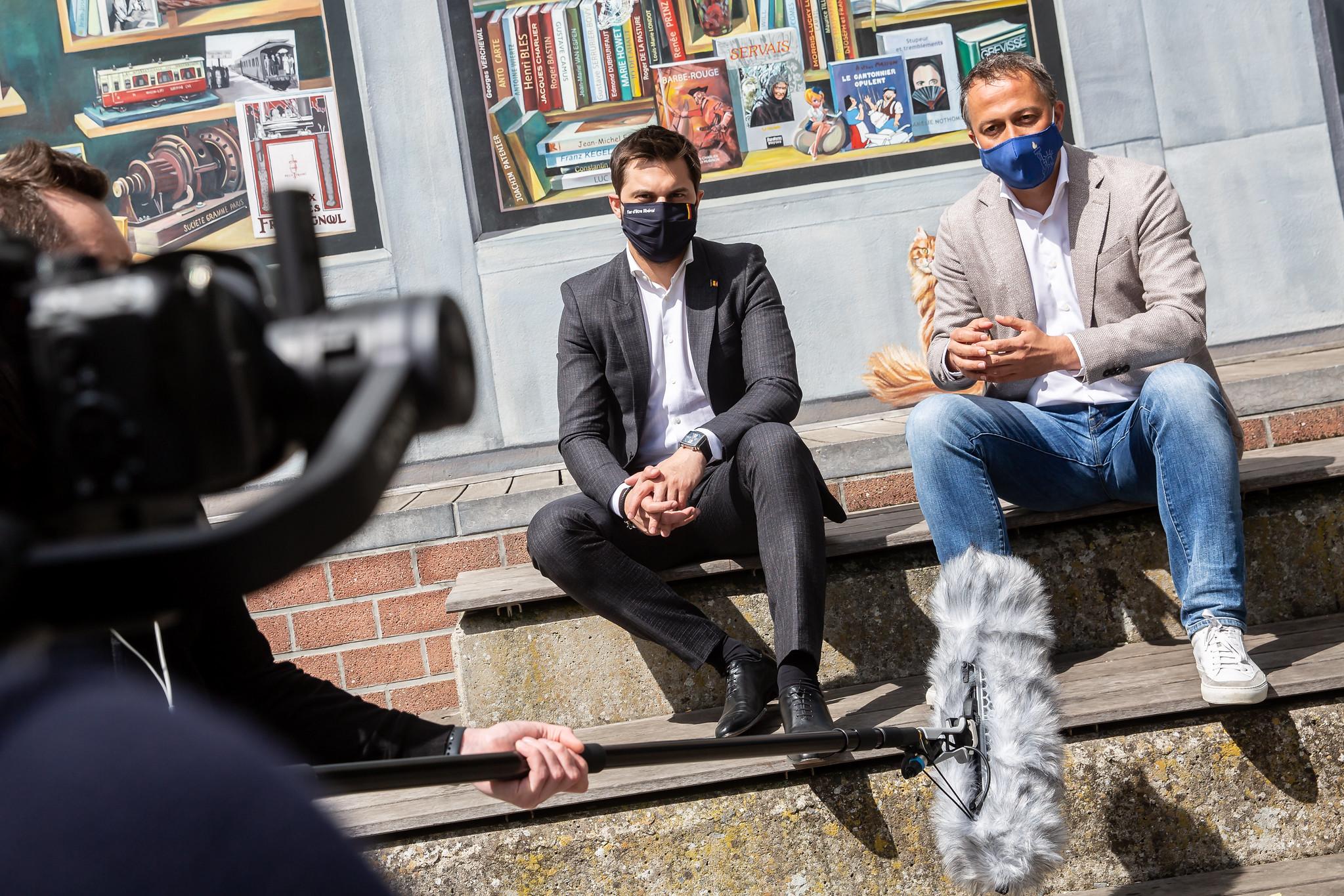 Première étape en Wallonie de la tournée libérale des présidents de l'Open VLD et du MR. La connexion libérale se renforce !