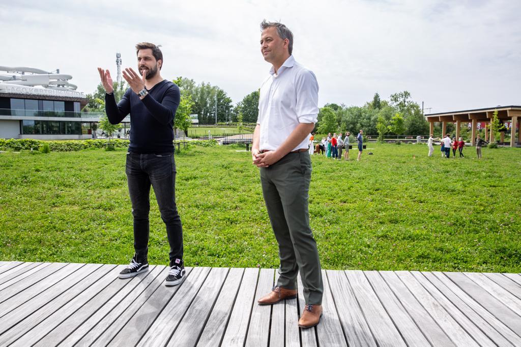 Tournée Libérale de Belgique : les présidents du MR et de l'Open VLD en visite à Courtrai