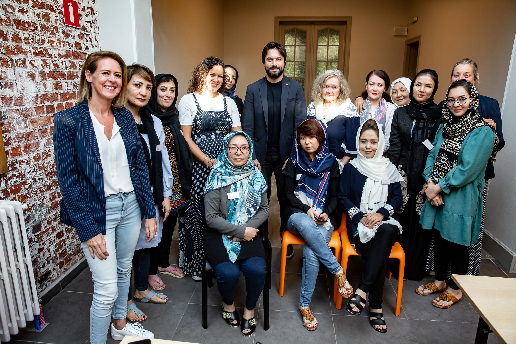 Georges-Louis Bouchez a rencontré des femmes réfugiées afghanes auprès de l'association Mothers for peace